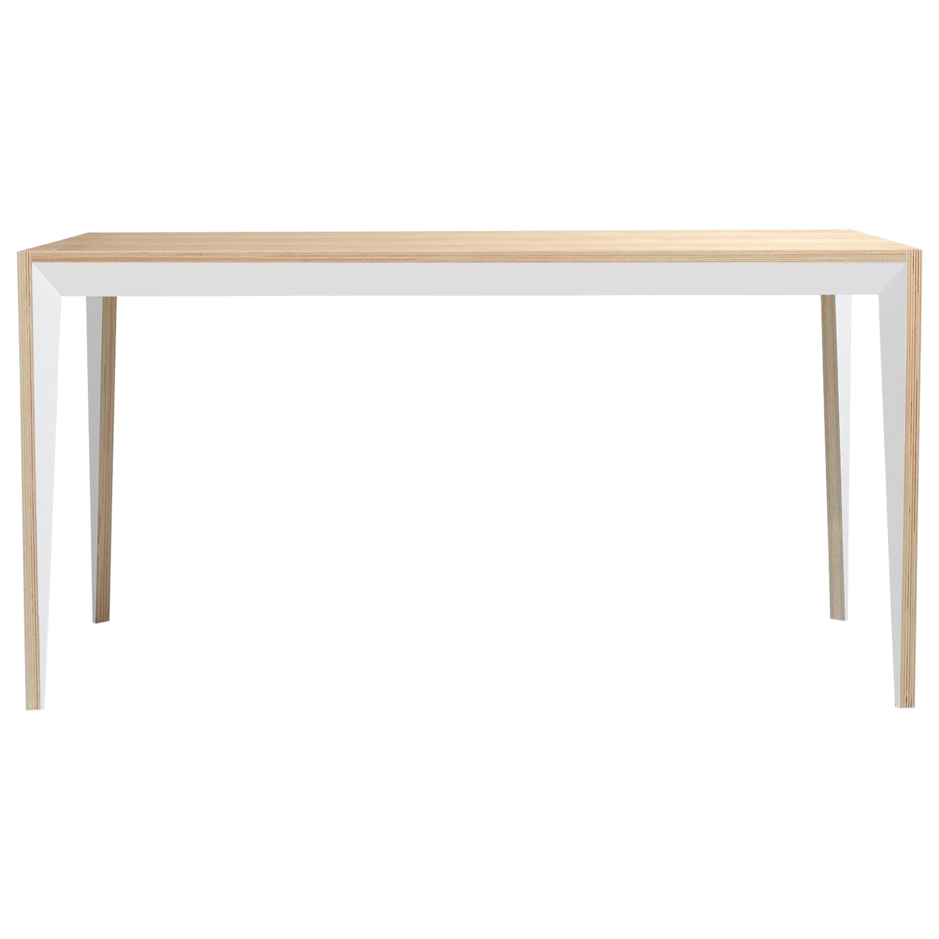 Oak Wood MiMi Desk White by Miduny, Made in Italy