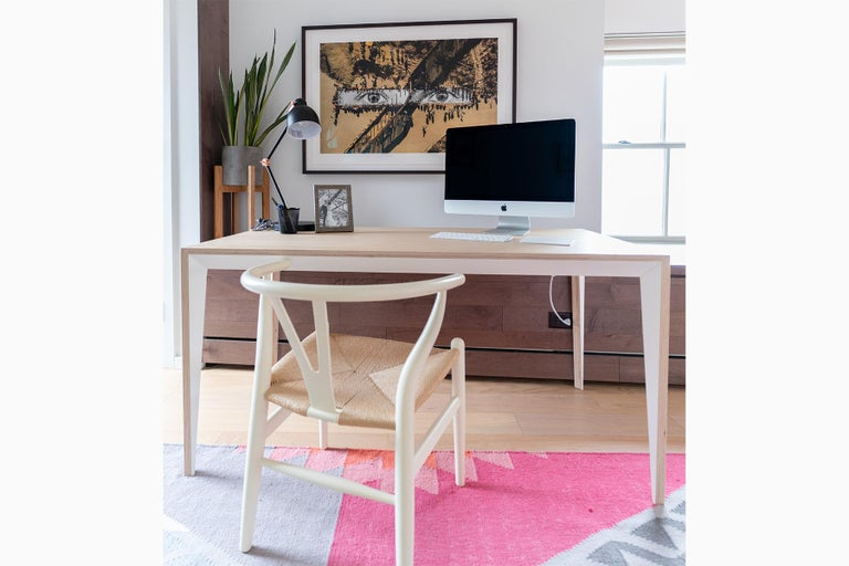 Beech Oak Wood MiMi Desk White by Miduny, Made in Italy For Sale