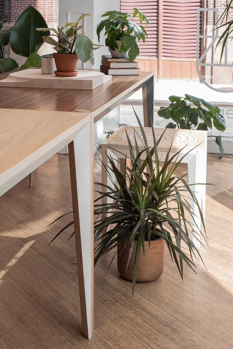 Oak Wood MiMi Desk White by Miduny, Made in Italy For Sale 3