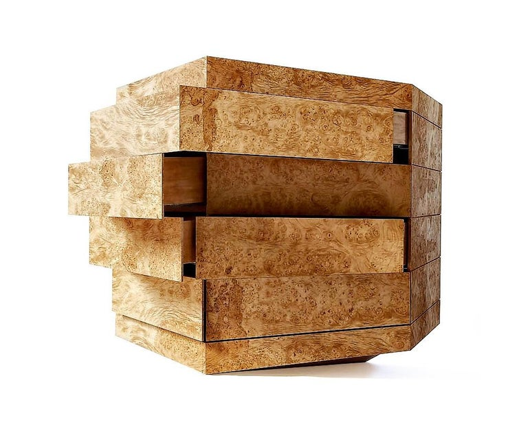 Contemporary Latvian Burl Chest of Drawers