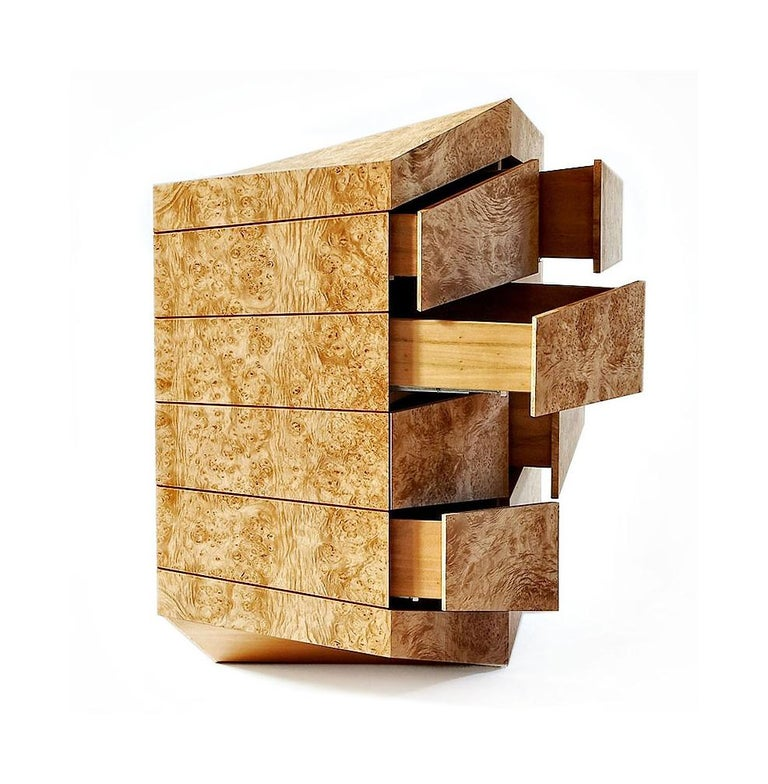 This multi edge 8 drawers sculptural storage with