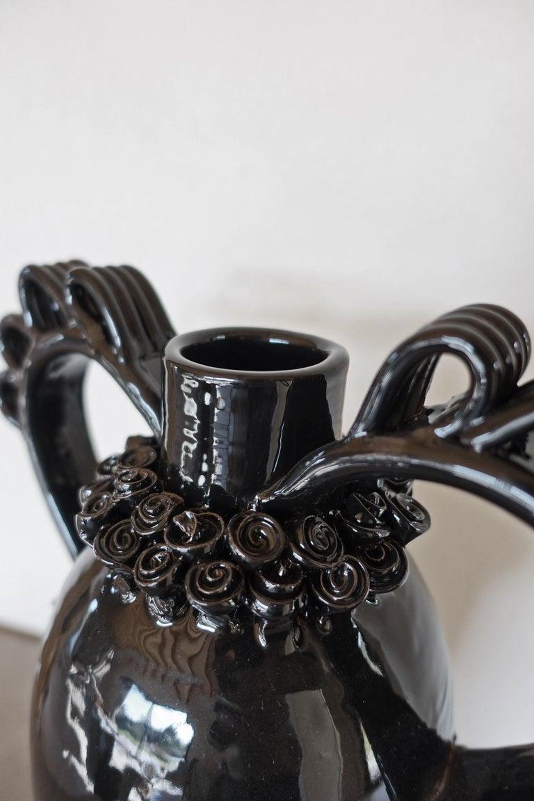 Glazed Marria Vase, a Reinterpretation of the Traditional Sardinian Nuptial Vase by VCS For Sale