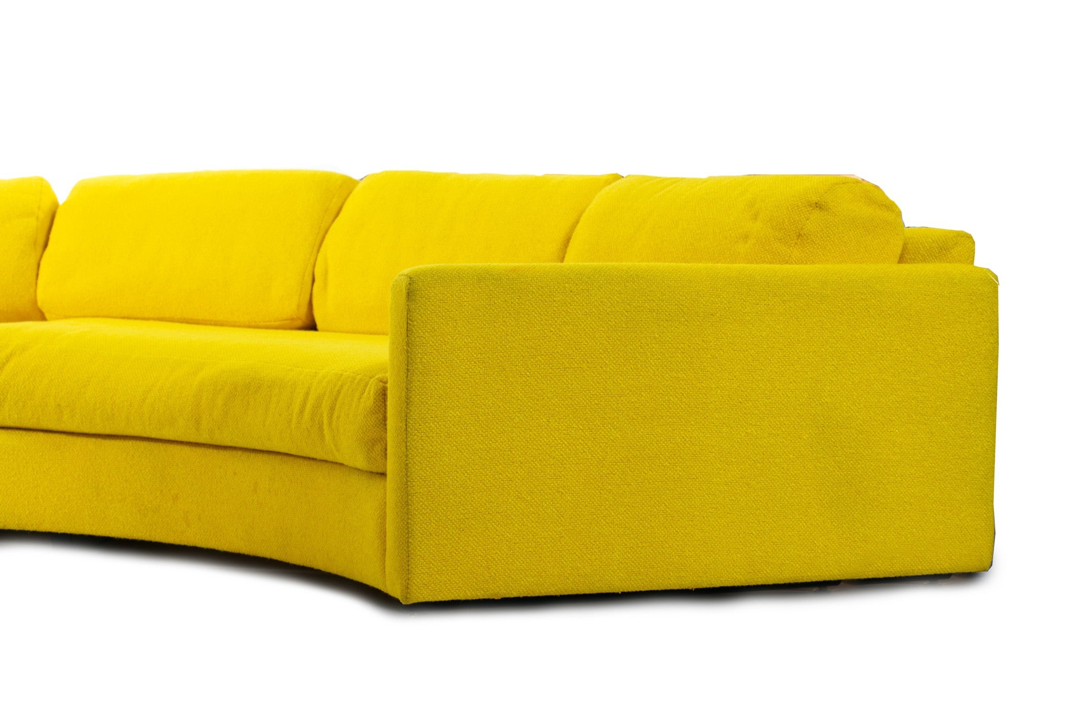 Awesome Adrian Pearsall Yellow Semi Circular Sofa 3 Piece Sectional Onthecornerstone Fun Painted Chair Ideas Images Onthecornerstoneorg