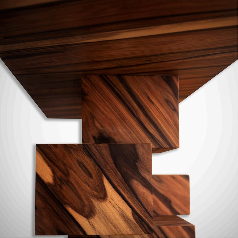 Alma Console Made of Palo Santo Wood, Limited Edition of 7- Contemporary Design For Sale 1