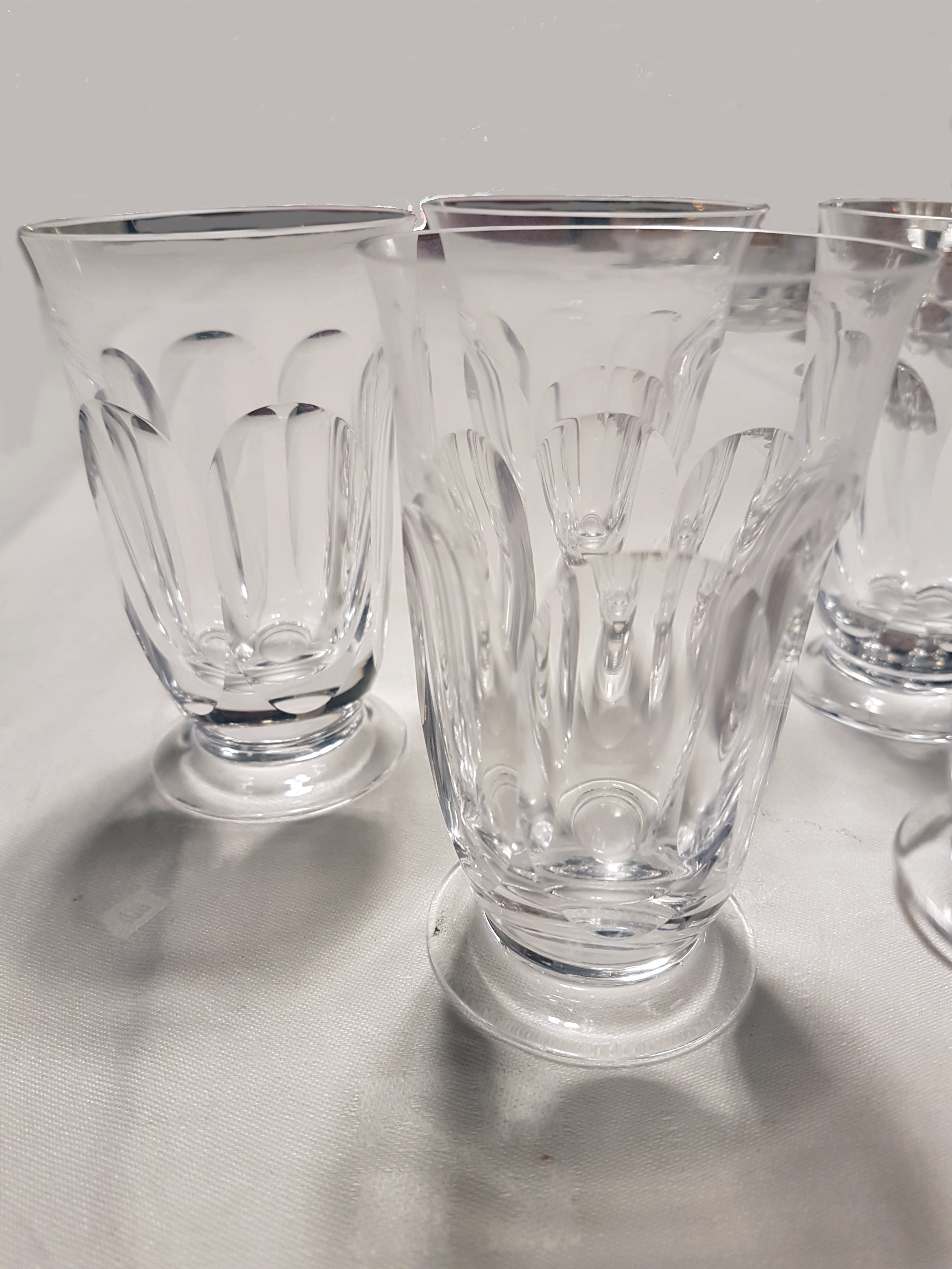 Moser Water Glasses, Art Nouveau Hand Blown, Engraved, Lady Hamilton by  Moser