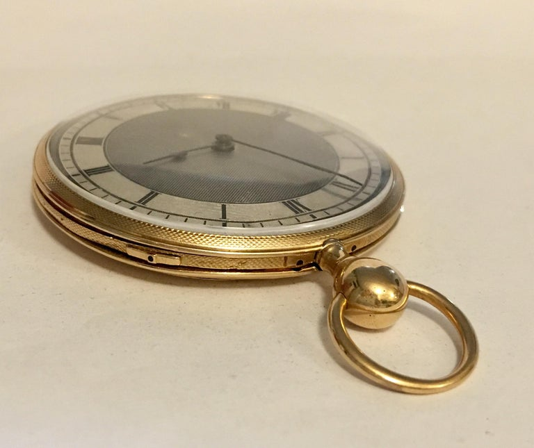 Late 19th Century Lightweight Slim 14-Karat Gold Quarter Repeater Pocket Watch For Sale