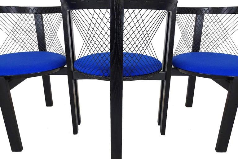Post-Modern Dining chairs - Danish String Chairs by Niels Jørgen Haugesen For Sale
