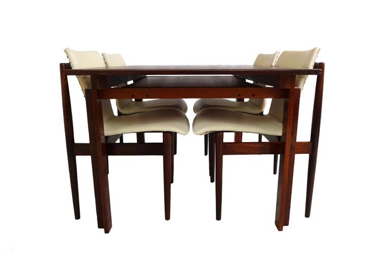 Mid-Century Modern Dining set - Danish Midcentury teak table & chairs by Inger Klingenberg For Sale