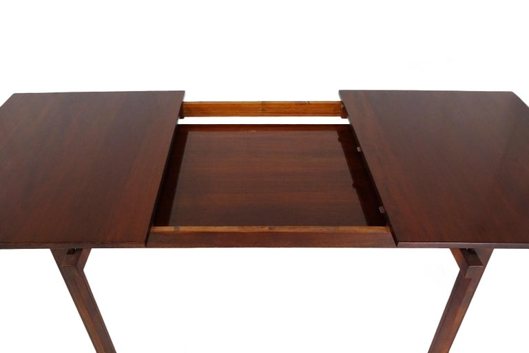 Leather Dining set - Danish Midcentury teak table & chairs by Inger Klingenberg For Sale