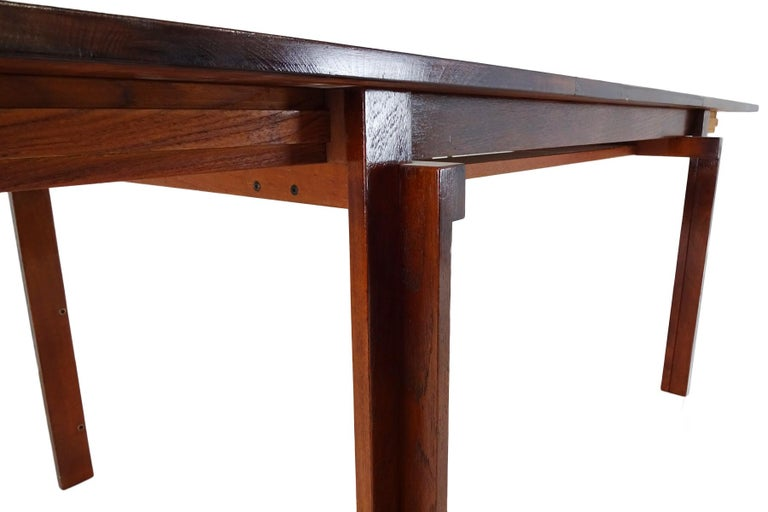 Dining set - Danish Midcentury teak table & chairs by Inger Klingenberg For Sale 2