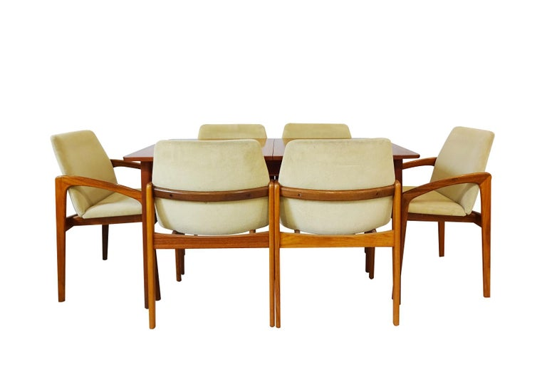 Space Saving Dining Set - Danish Midcentury by Kai Kristiansen & Nils Jonsson In Good Condition For Sale In Highclere, Newbury