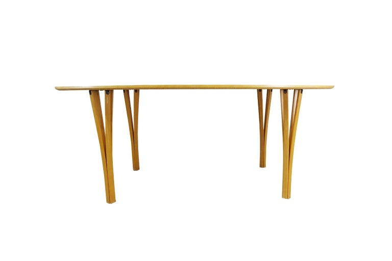 Danish Dining set - Super Ellipse Dining Table by Piet Hein - including 8 chairs For Sale