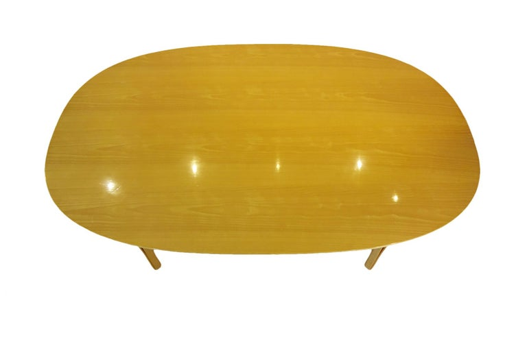 20th Century Dining set - Super Ellipse Dining Table by Piet Hein - including 8 chairs For Sale