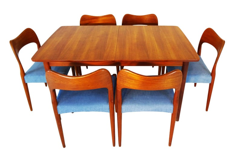 Danish midcentury teak dining set by Arne Hovmand Olsen for Mogens Kold