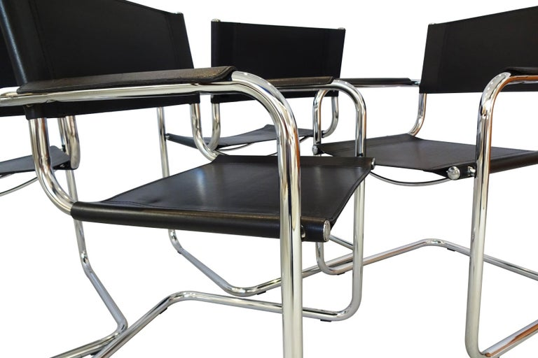 20th Century Dining Set - Vintage Midcentury Mart Stam design chairs with Thonet Table For Sale