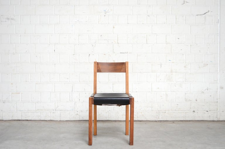 Oiled Vintage Pierre Chapo Model S24 Saddle Leather Chair, circa 1970 For Sale