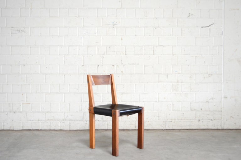 Vintage Pierre Chapo Model S24 Saddle Leather Chair, circa 1970 In Good Condition For Sale In Munich, Bavaria