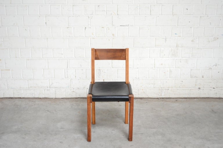 Mid-20th Century Vintage Pierre Chapo Model S24 Saddle Leather Chair, circa 1970 For Sale