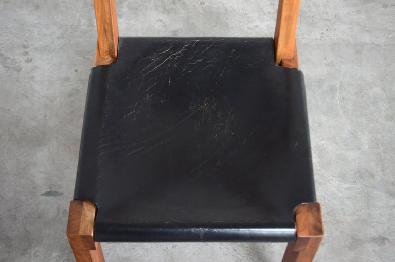 Vintage Pierre Chapo Model S24 Saddle Leather Chair, circa 1970 For Sale 1