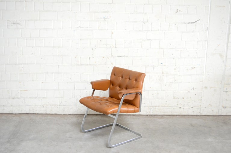 Robert Haussmann RH 305 armchairs design of 1957 and manufactured by De Sede.