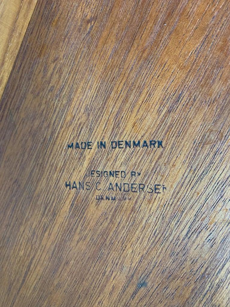Hans C Andersen Teak Coffee Table, 1950s For Sale 2