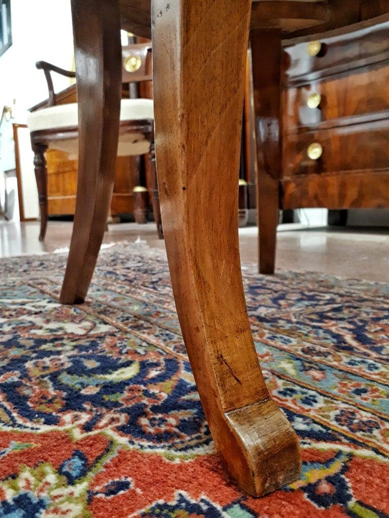 19th Century Napoleon III Walnut French Gondola Chair Restored For Sale 5
