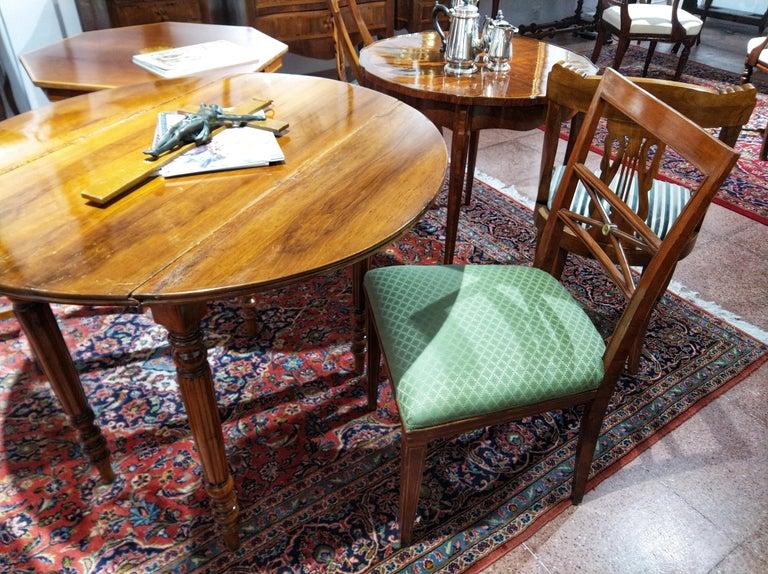 Early 20th Century Walnut Italian Chair Louis XVI Style For Sale 7