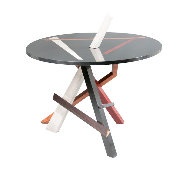 "Title: ""Convergence""  About The Piece:  This one of a kind signed and titled functional piece of art was designed to function as a center table while creating an Abstract Expressionistic sculpture reminiscent of the works of Mark di Suvero and David"