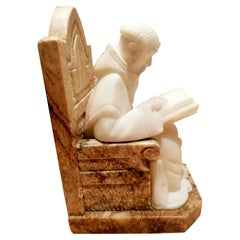 Bookends ,Pair of Alabaster and Marble Very Original