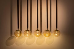 21st Century Filippo Feroldi Suspension Lamps Murano Glass Brass Various Colors
