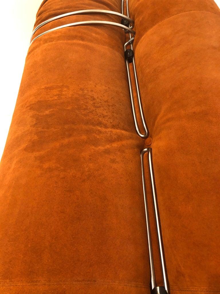 Sofa Soriana from Afra & Tobia Scarpa Edited by Cassina, 1970s Burnt Orange 2