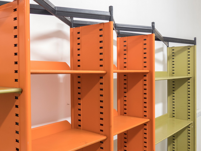 "Spazio Italiano San Francisco studio bbpr ""spazio"" midcentury combinable metal bookshelf"