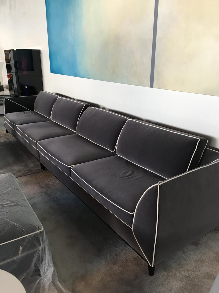 Modern Manzoni Sofa, Designed by Luca Scacchetti, Made in Italy For Sale