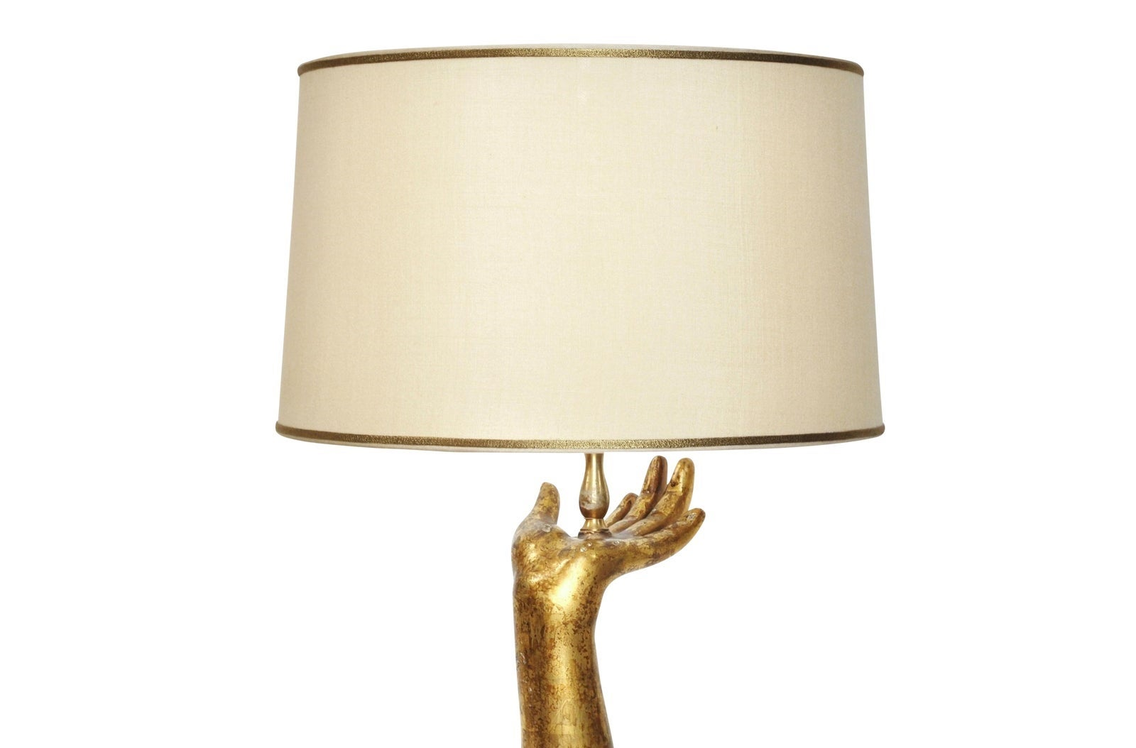 Designer Giltwood Table Lamp, Scandia