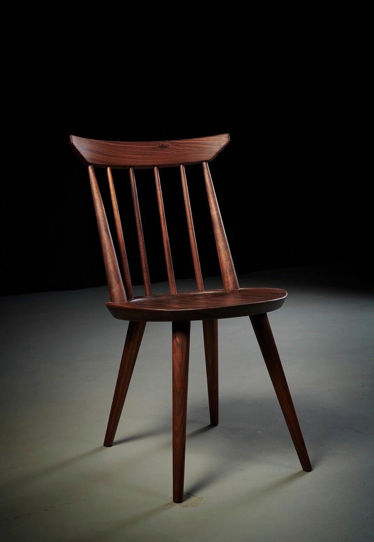 Contemporary Solid Wood Windsor Style Dining Chair, Spindle Back Chair by Möbius Objects For Sale