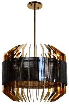 21st Century Dubai Suspension Lamp Aluminium Brass Gold-Plated