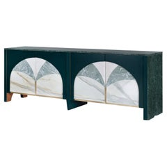 21st Century Modern Biloba Marble Sideboard Handcrafted Portugal by Greenapple