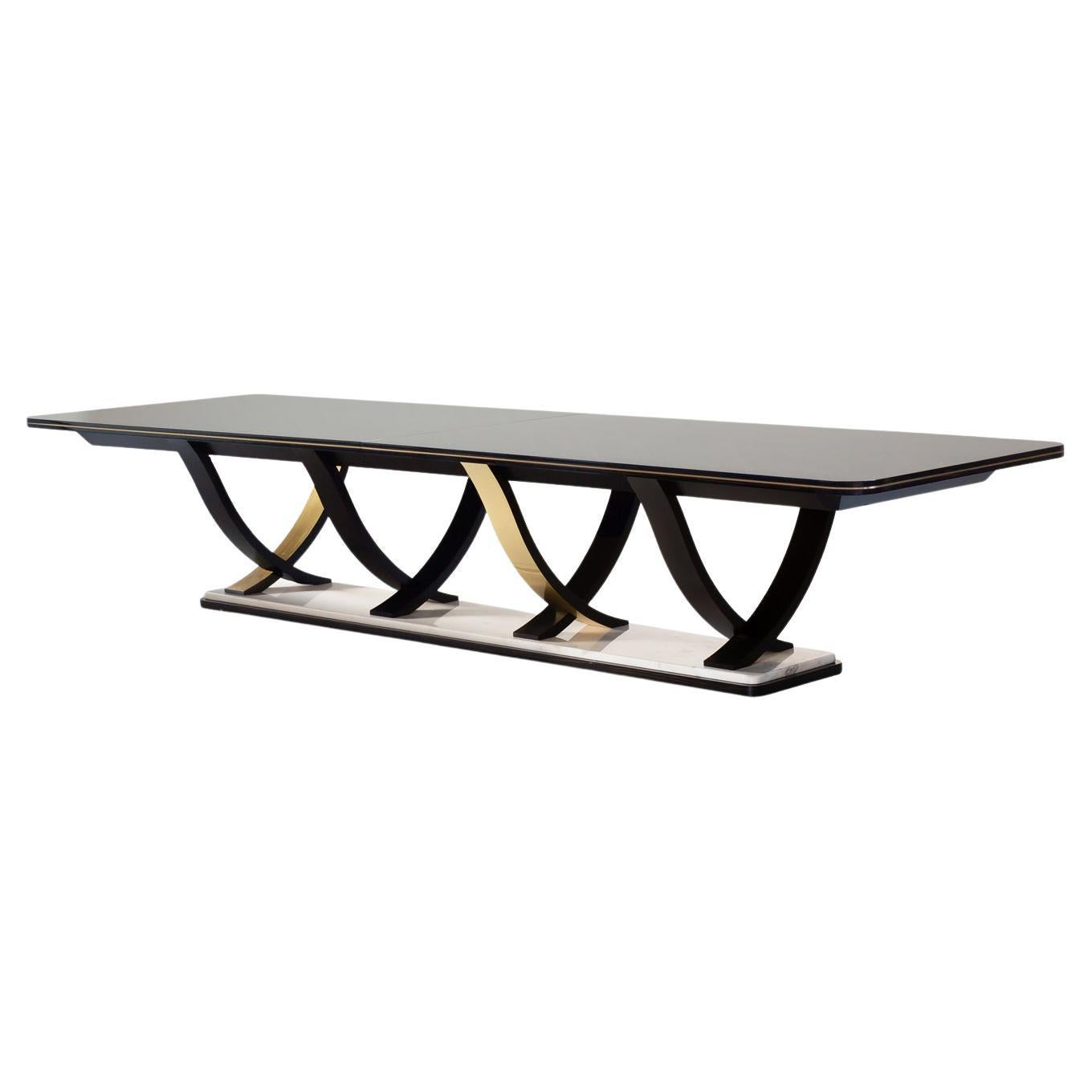 21st Century Art Deco Fontaine Dining Table Handcrafted Portugal by Greenapple