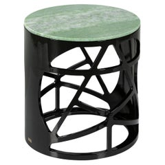 Art Deco Style Pyrite Side Table Handcrafted in Portugal by Greenapple