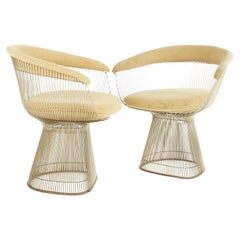 Warren Platner For Knoll Mid Century Dining Chairs, Set 2