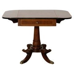 1920s Classical Mahogany Drop-Leaf Table