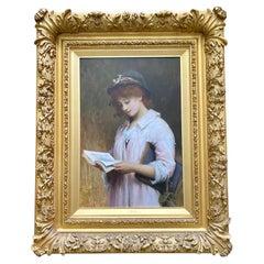 "Sir Samuel Luke Fildes RA, A Superb Quality Portrait Titled ""Phyllis"""