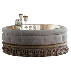 Oval Upholstered Coffee Table by Modenese Luxury Interiors