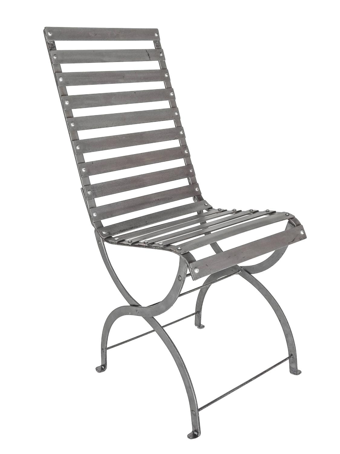 Mid Century Iron Slatted Chairs For Sale At 1stdibs