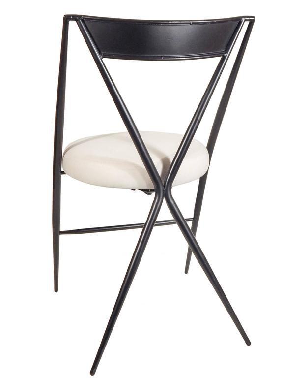 Pair of Mid Century Modern Folding Chairs For Sale at 1stdibs