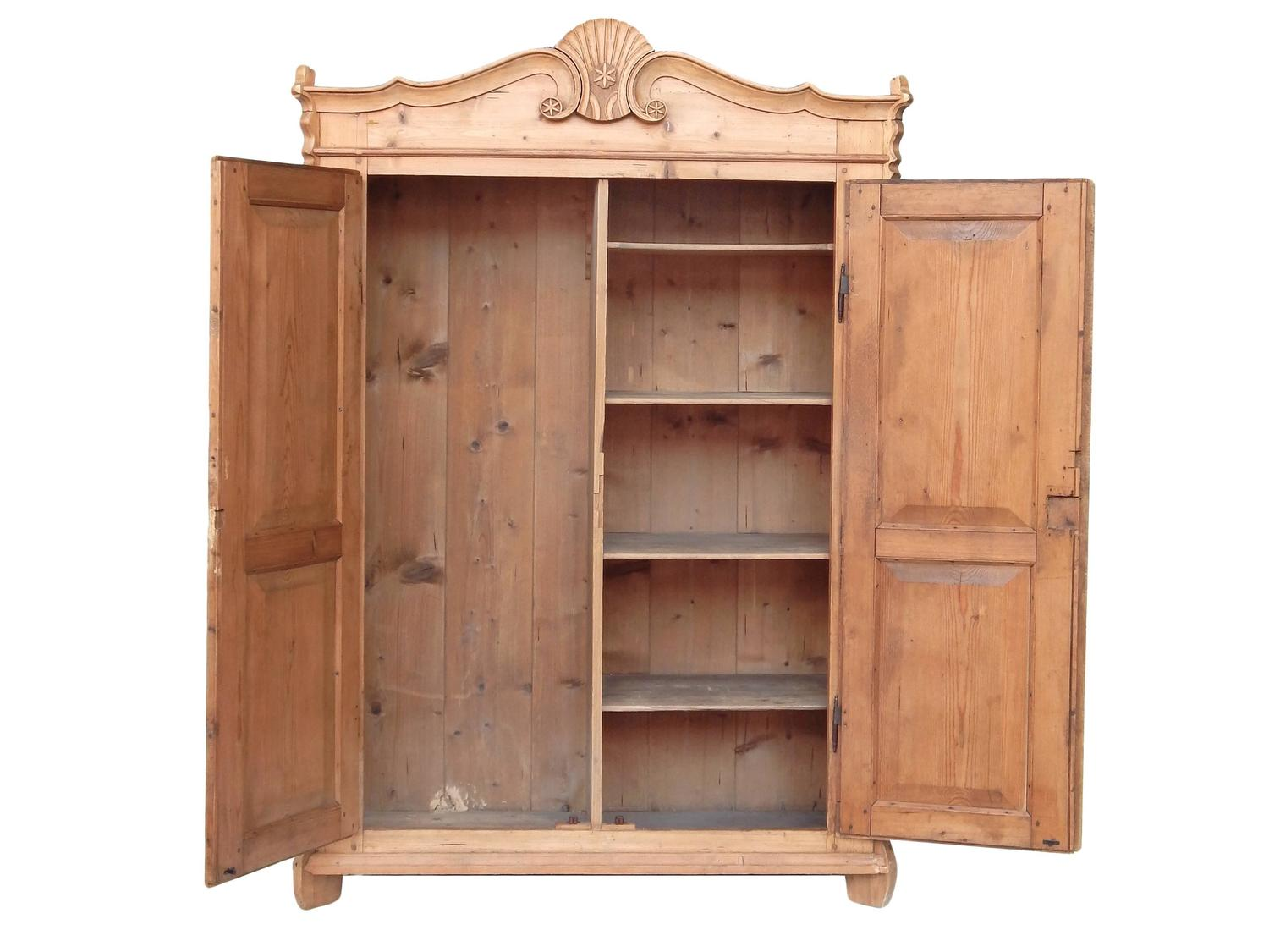 european pine armoire for sale at 1stdibs. Black Bedroom Furniture Sets. Home Design Ideas