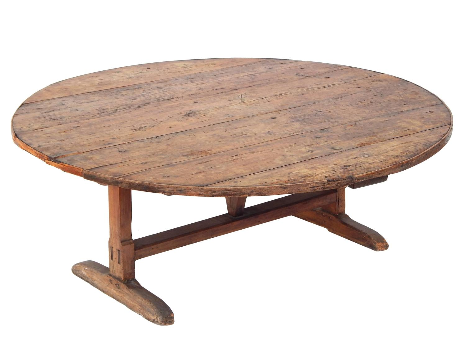 Coffee table height wine tasting table at 1stdibs - How tall is a coffee table ...