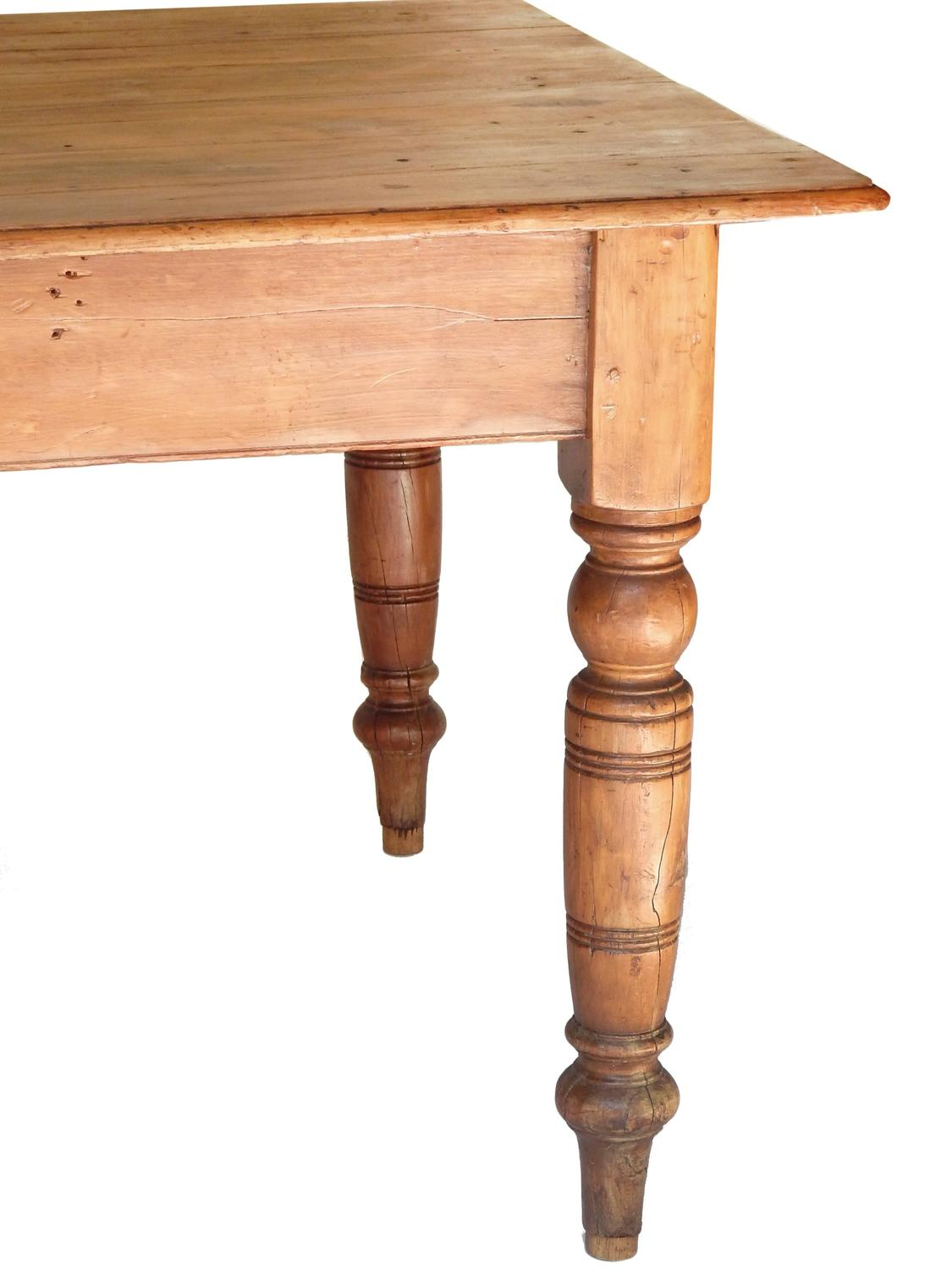 19th Century American Farm Table For Sale at 1stdibs