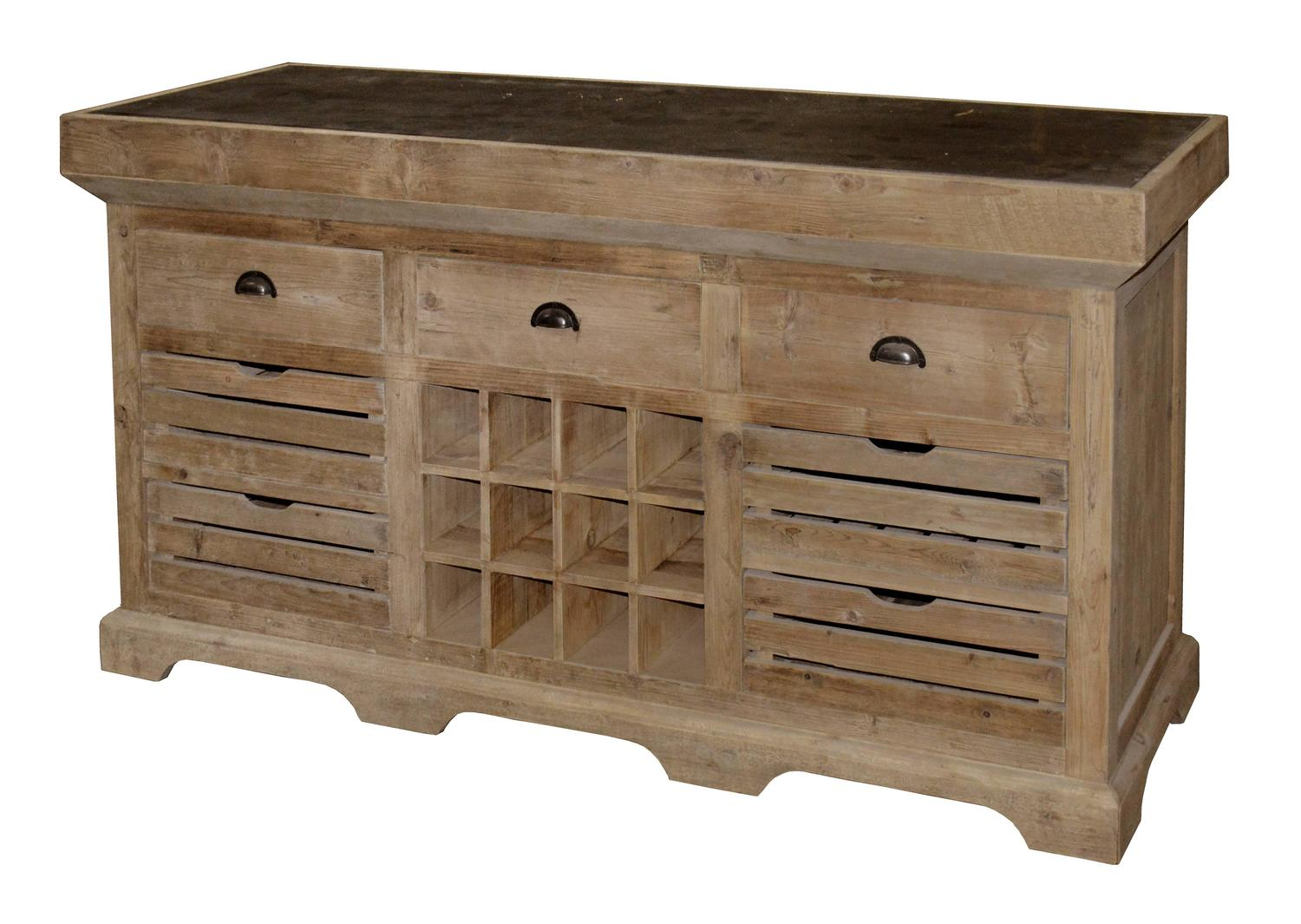 kitchen island with wine rack for sale at 1stdibs custom listing aged oak kitchen island with wine rack