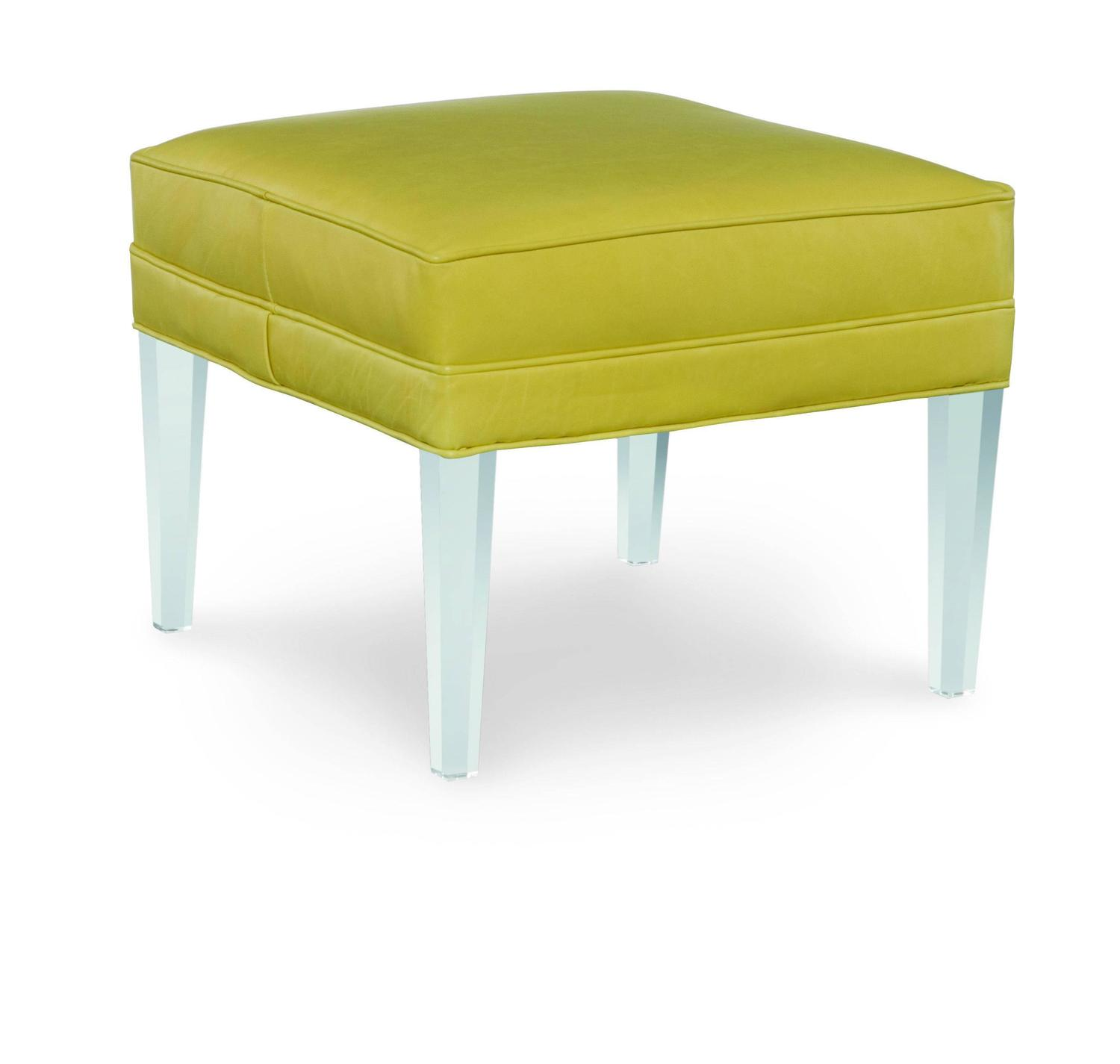 Fabric And Acrylic Ottoman For Sale At 1stdibs